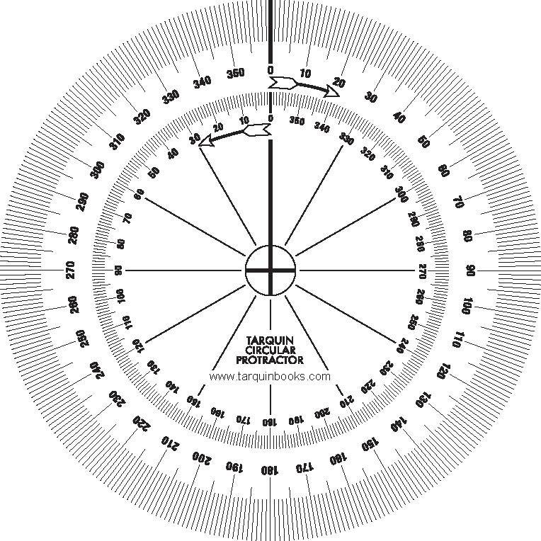 Tarquin Circular Protractors (Pack Of 10)