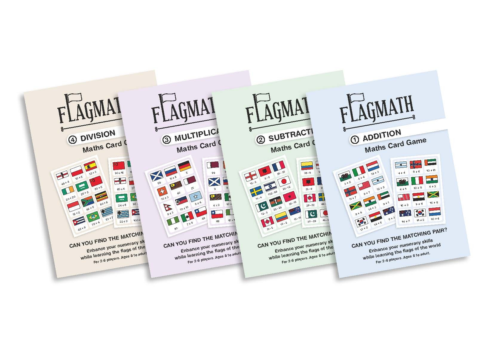 FlagMath - Set of 4 Mathematics Card Games
