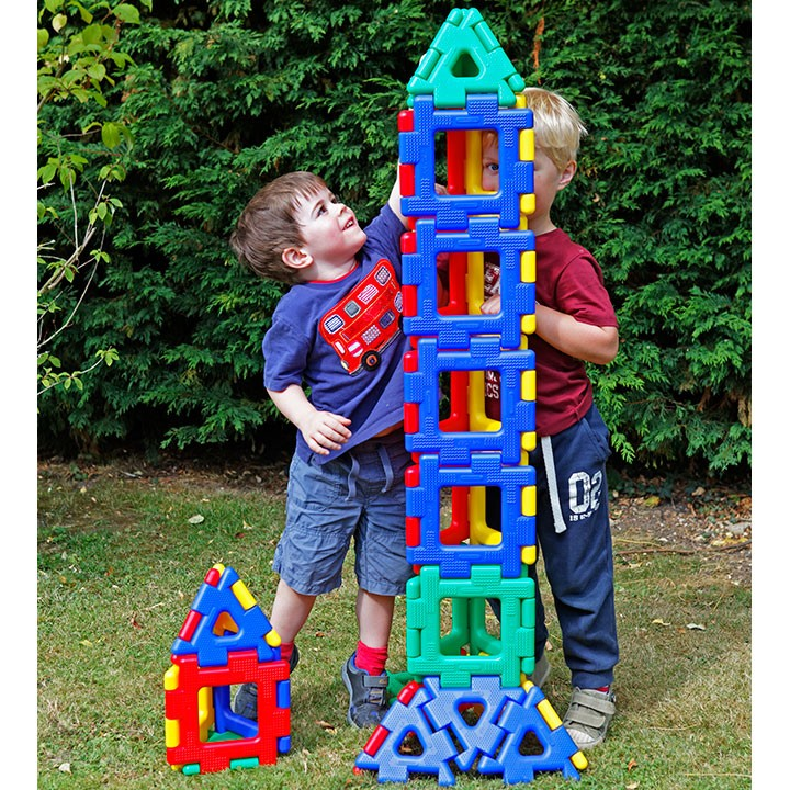 Giant Polydron Fun Set (40 pieces) - perfect for little hands!