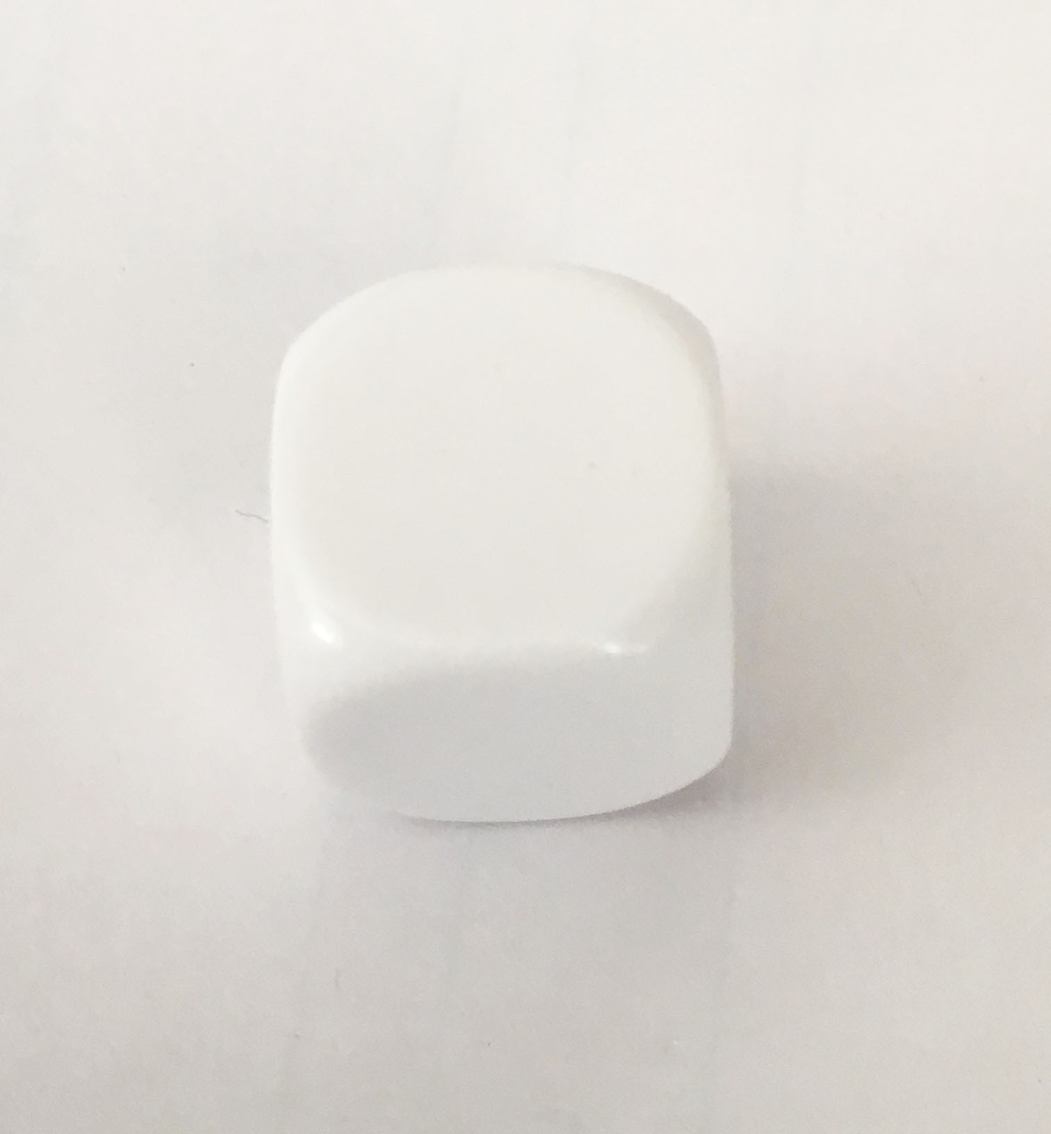 14mm Blank White Single