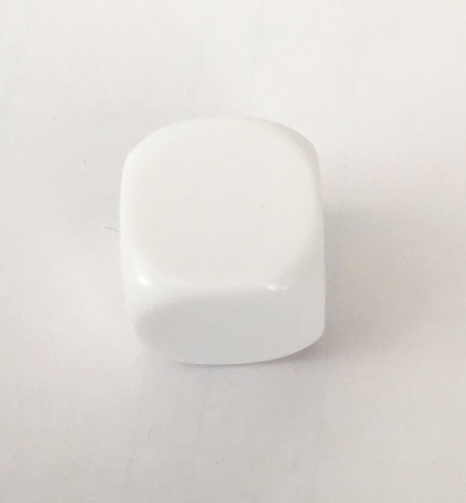 14mm Blank White Single