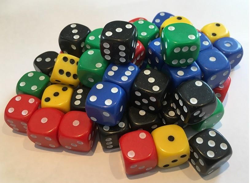 16mm set of 50 spot dice