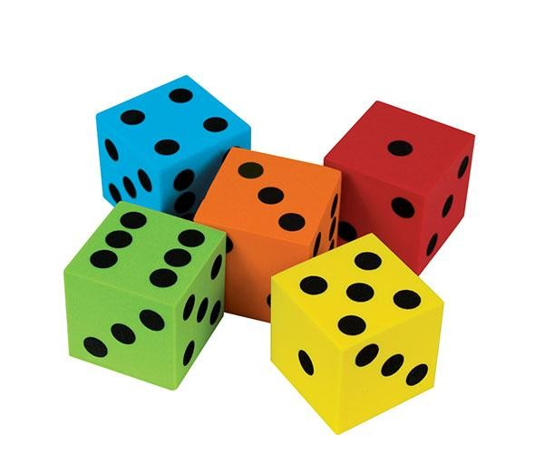 Dice 40mm 6 Face Dot Foam (Pack of 5)