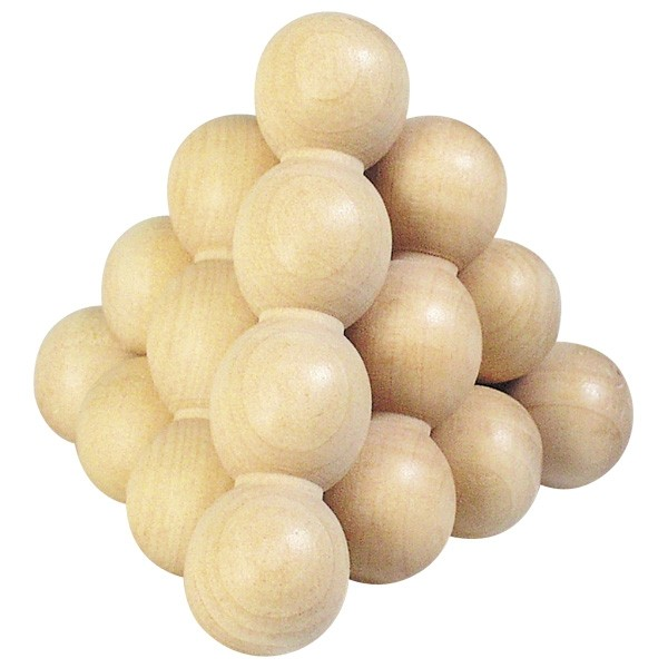 The Ball Pyramid Wooden Puzzle - Primary - Puzzles and