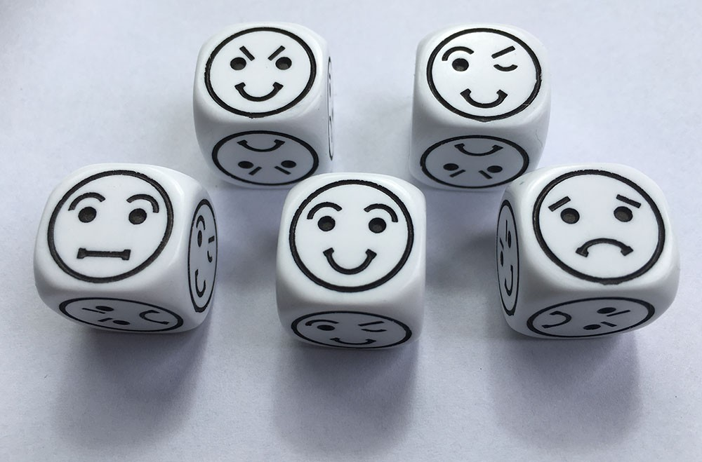 Emoti Dice (Set of 5 emoticon dice)