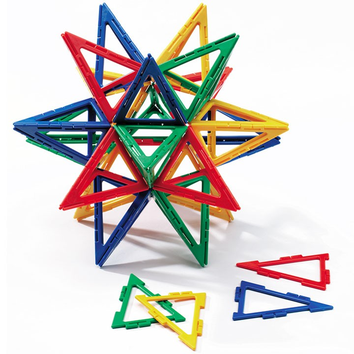 Polydron Frameworks Isosceles Triangles Set of 80