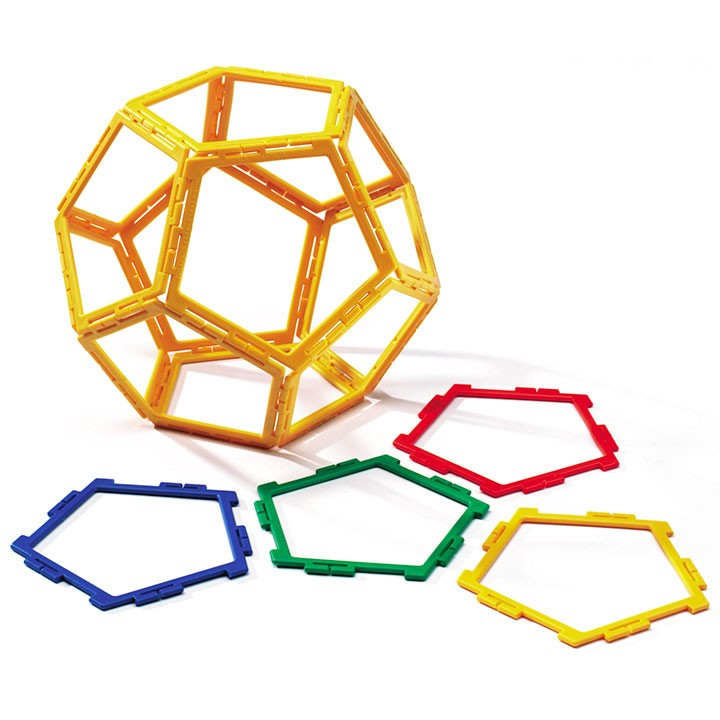 Polydron Frameworks Pentagons Set of 40