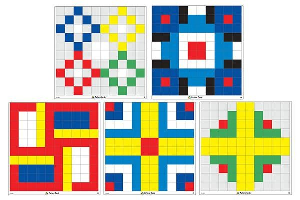 SimFit Pattern Cards for use with 1cm Cubes (12 in a pack)