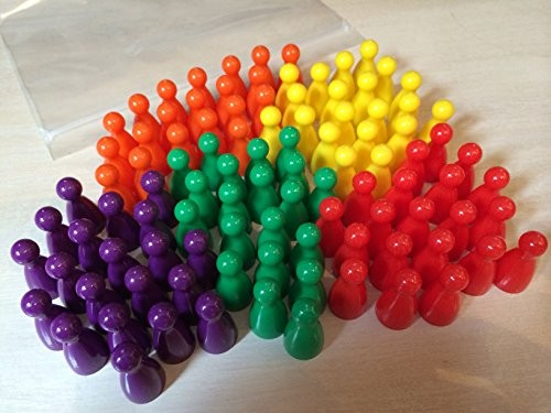 Plastic Pawns (100 in 5 different colours)