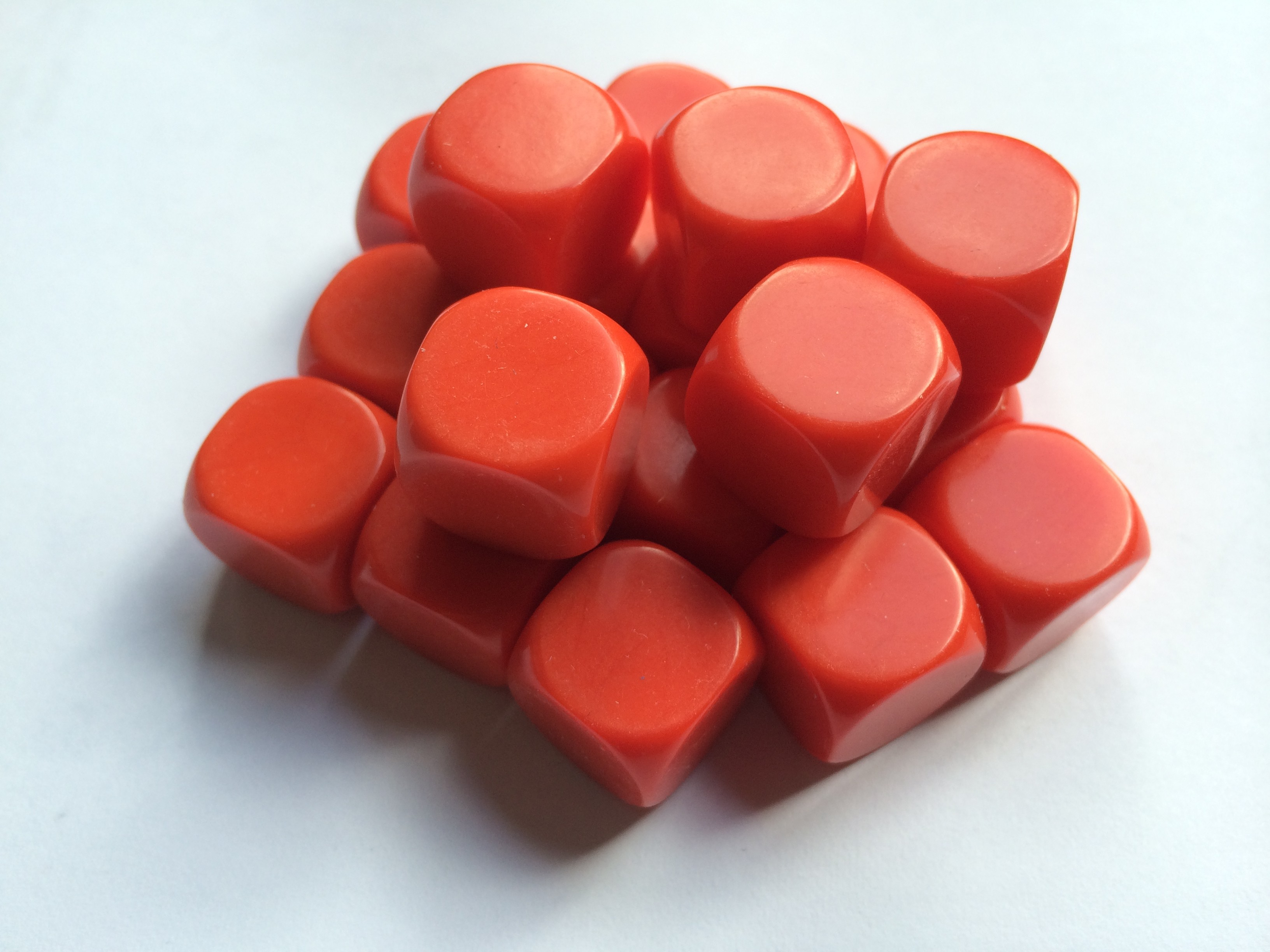 Blank Dice pack of 20 Re-writeable Red