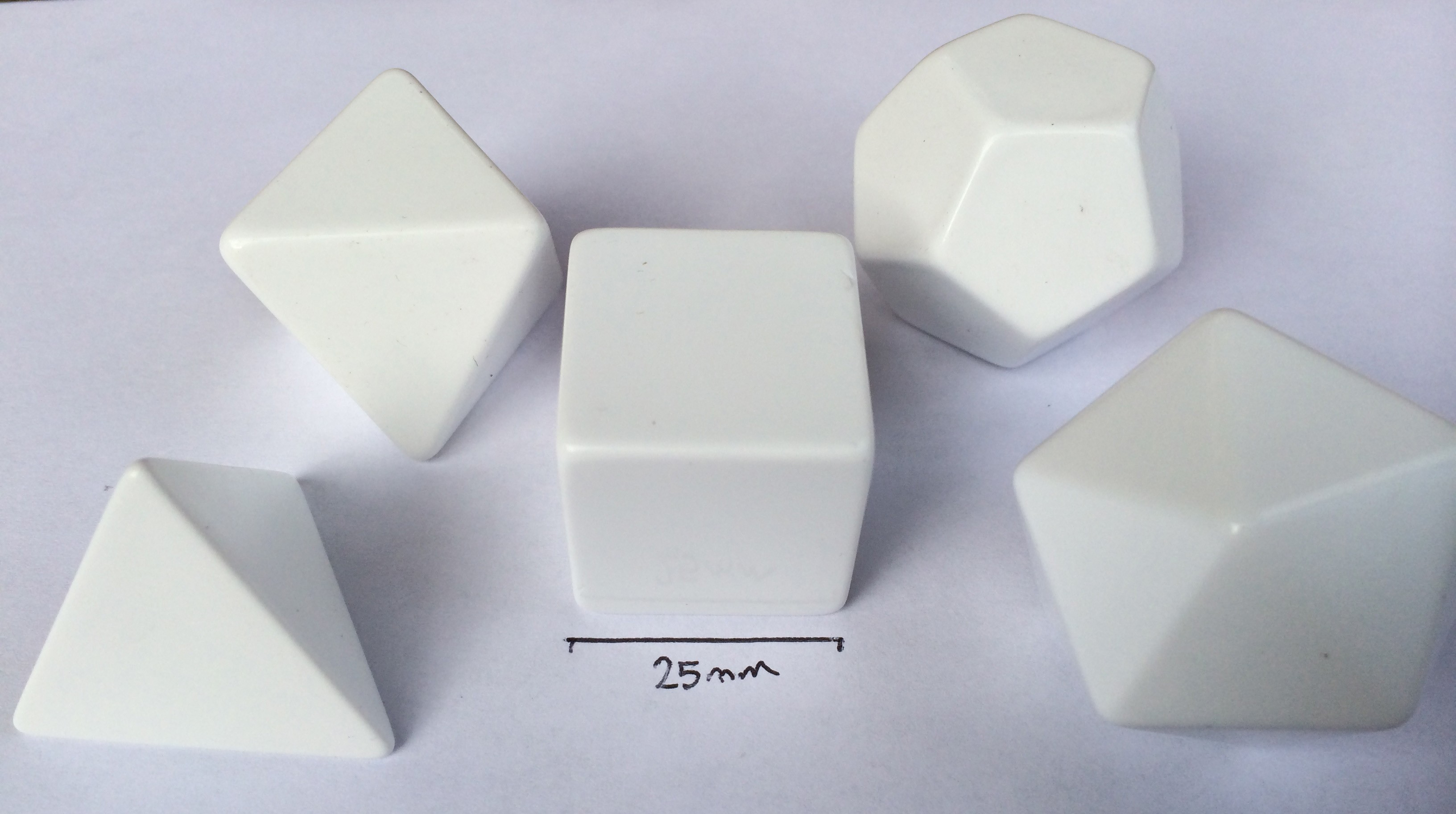 Platonic Solids Set in White