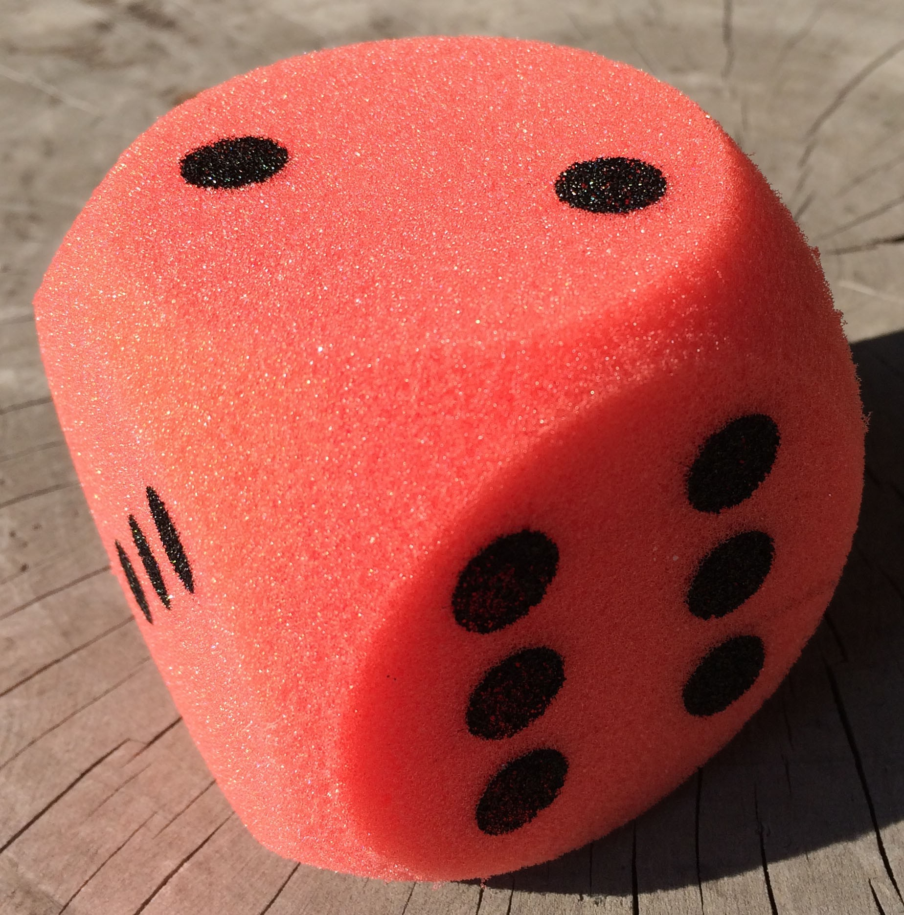Giant Dice! One 7cm (70mm) Giant Foam Die, in Red