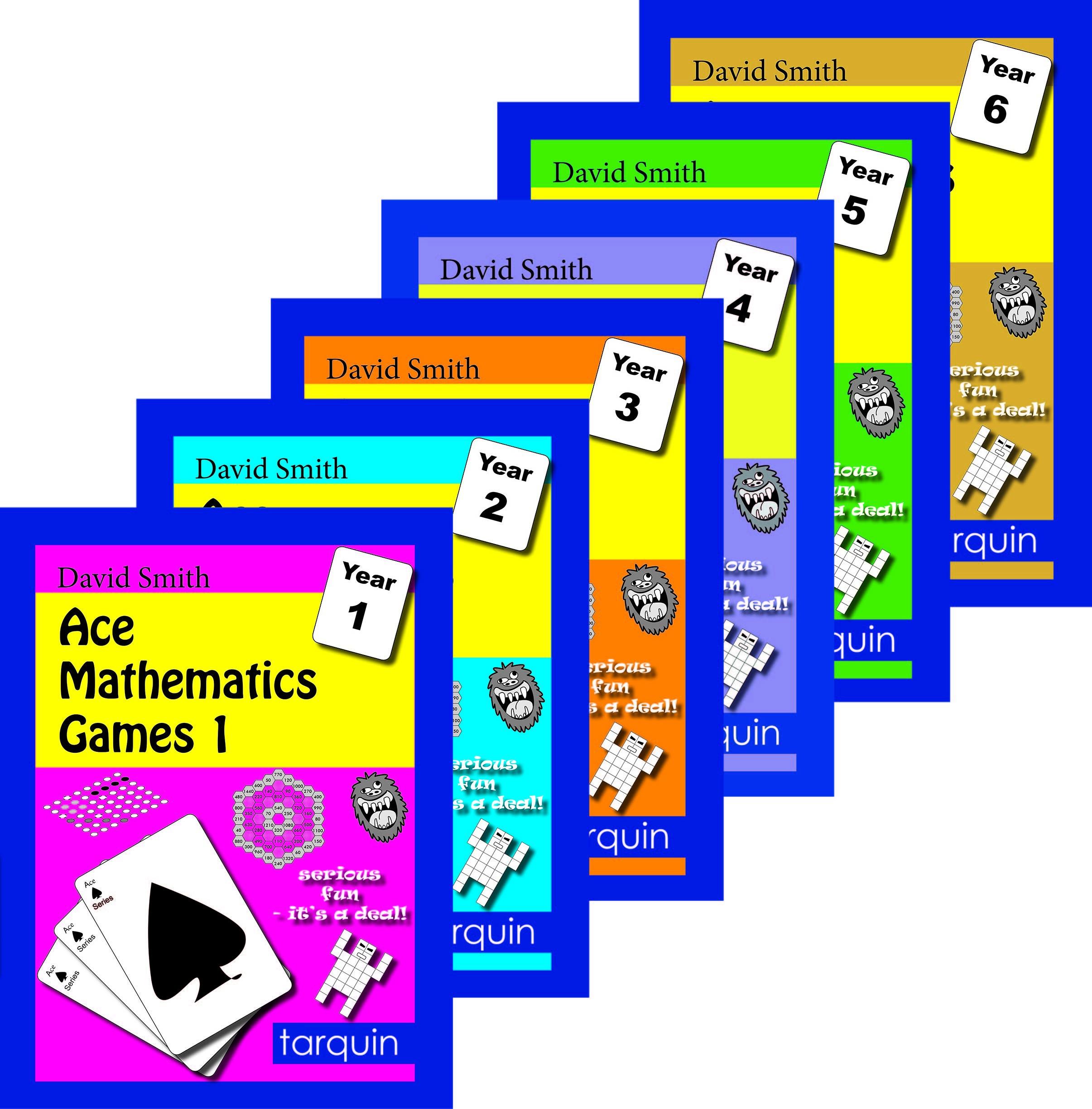 Ace Mathematics Games - Set of 6 - Tarquin Group