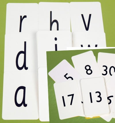 Alphabet Cards (Pack of 100) and Number Cards (0-30)