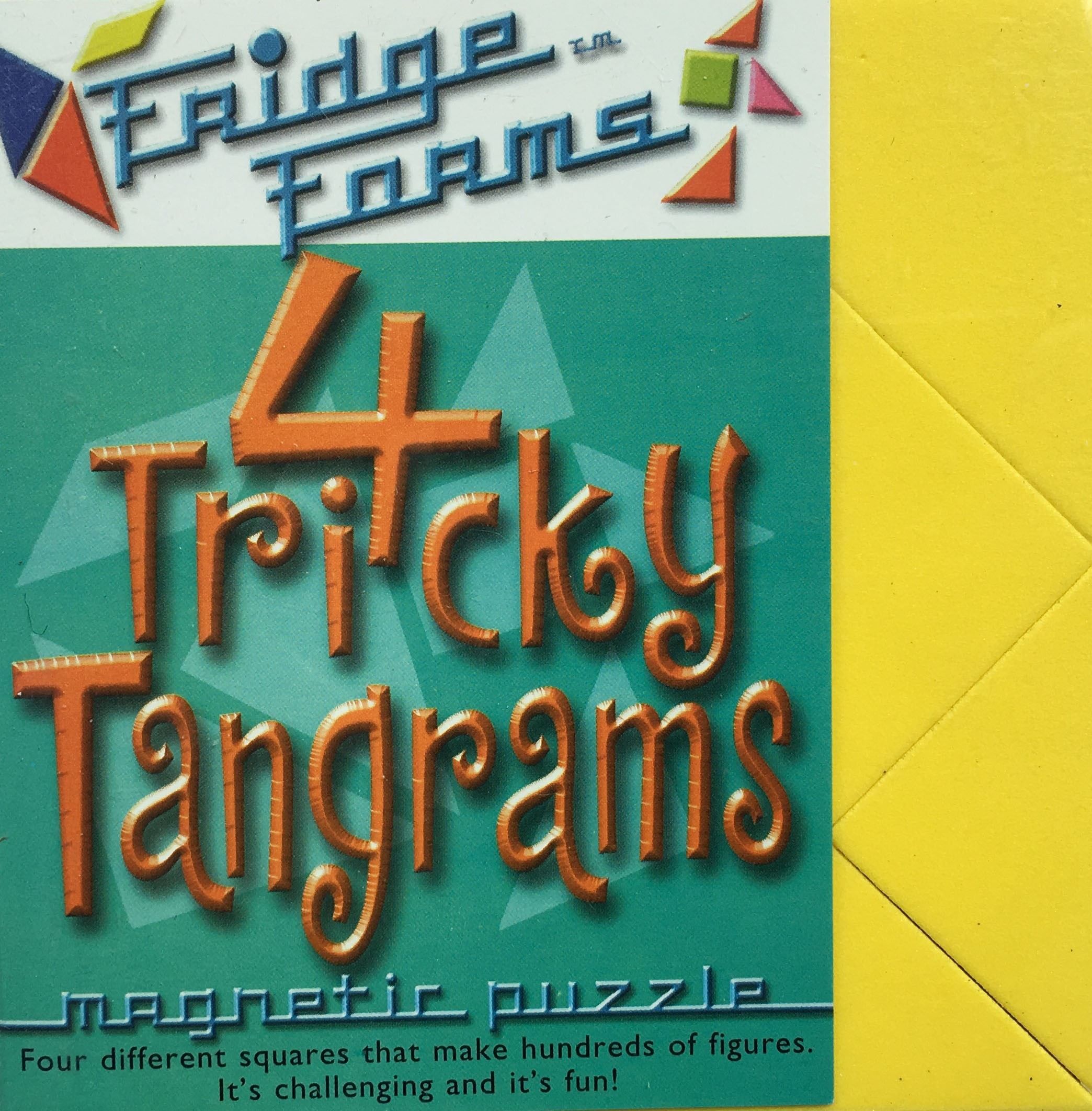 4 Tricky Tangrams - Magnetic Tessellation Puzzle
