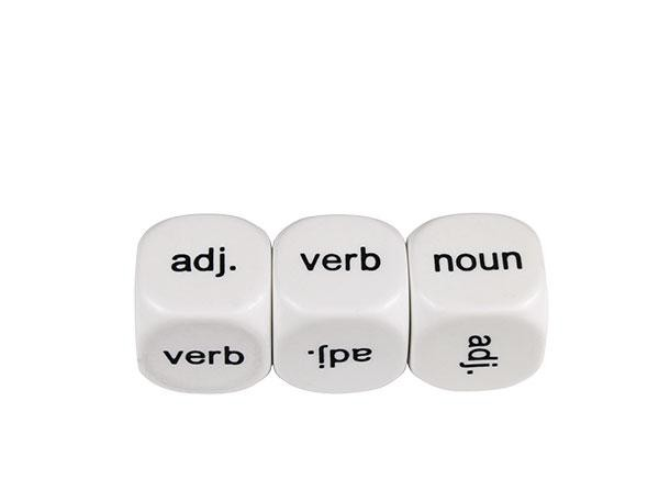 Parts of Speech Dice #1 18mm (pack of 5)