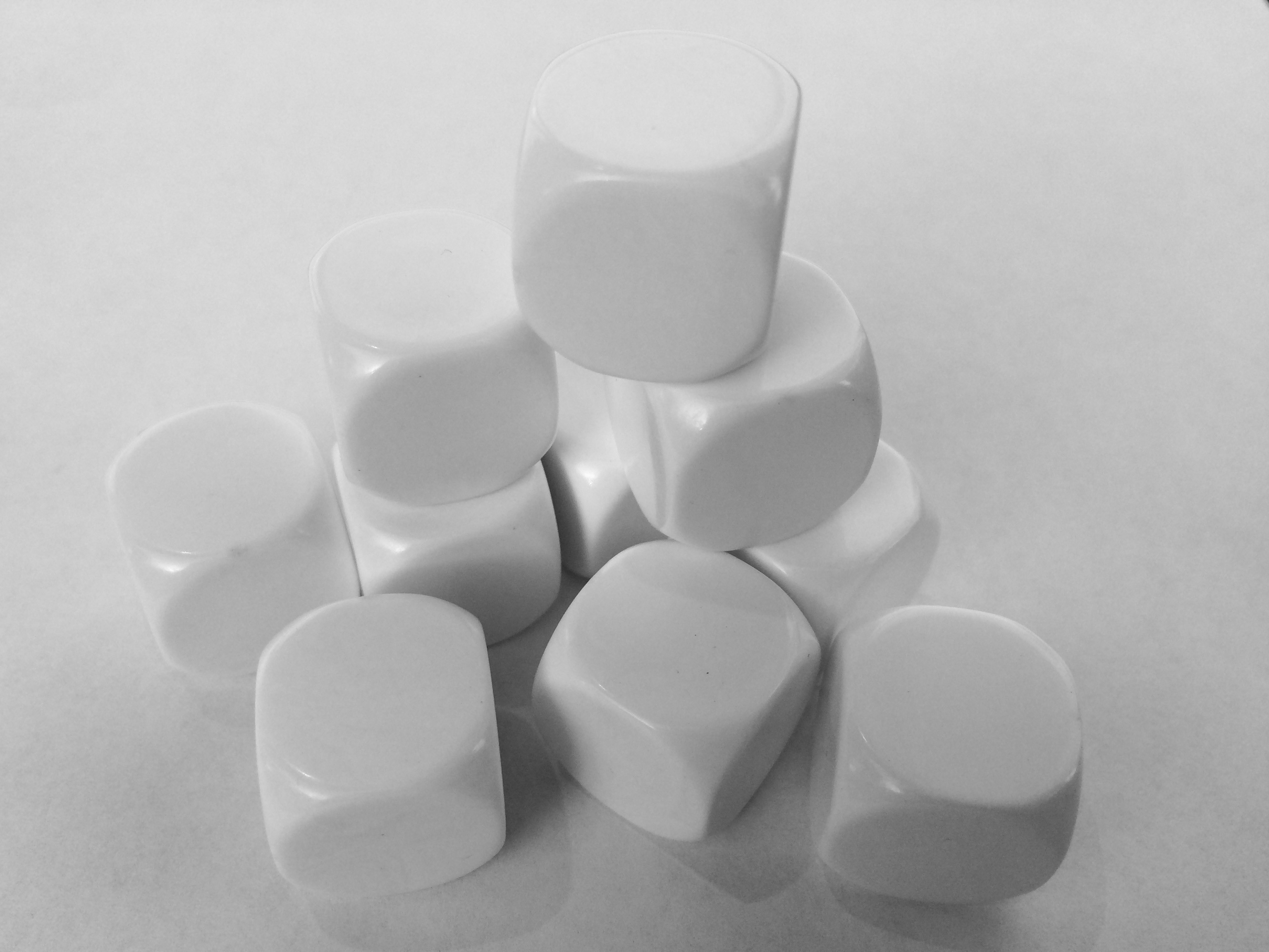 Large Blank Dice - 18mm (Set of 10)