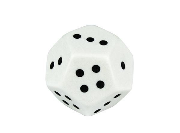 Dice 12 Face Dot Jumbo 32mm (Pack of 4 D12)