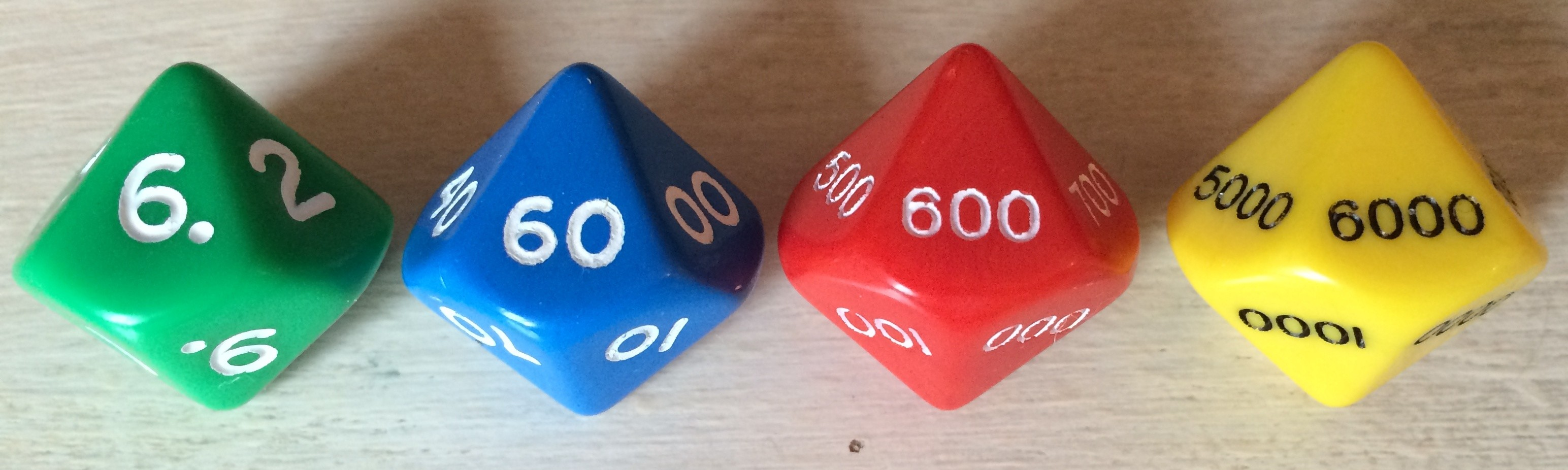 Set of 4 Place Value Dice