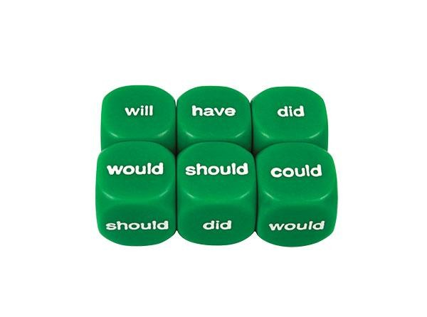Literacy Dice: Helping Verbs Past 16mm (Pack of 5)