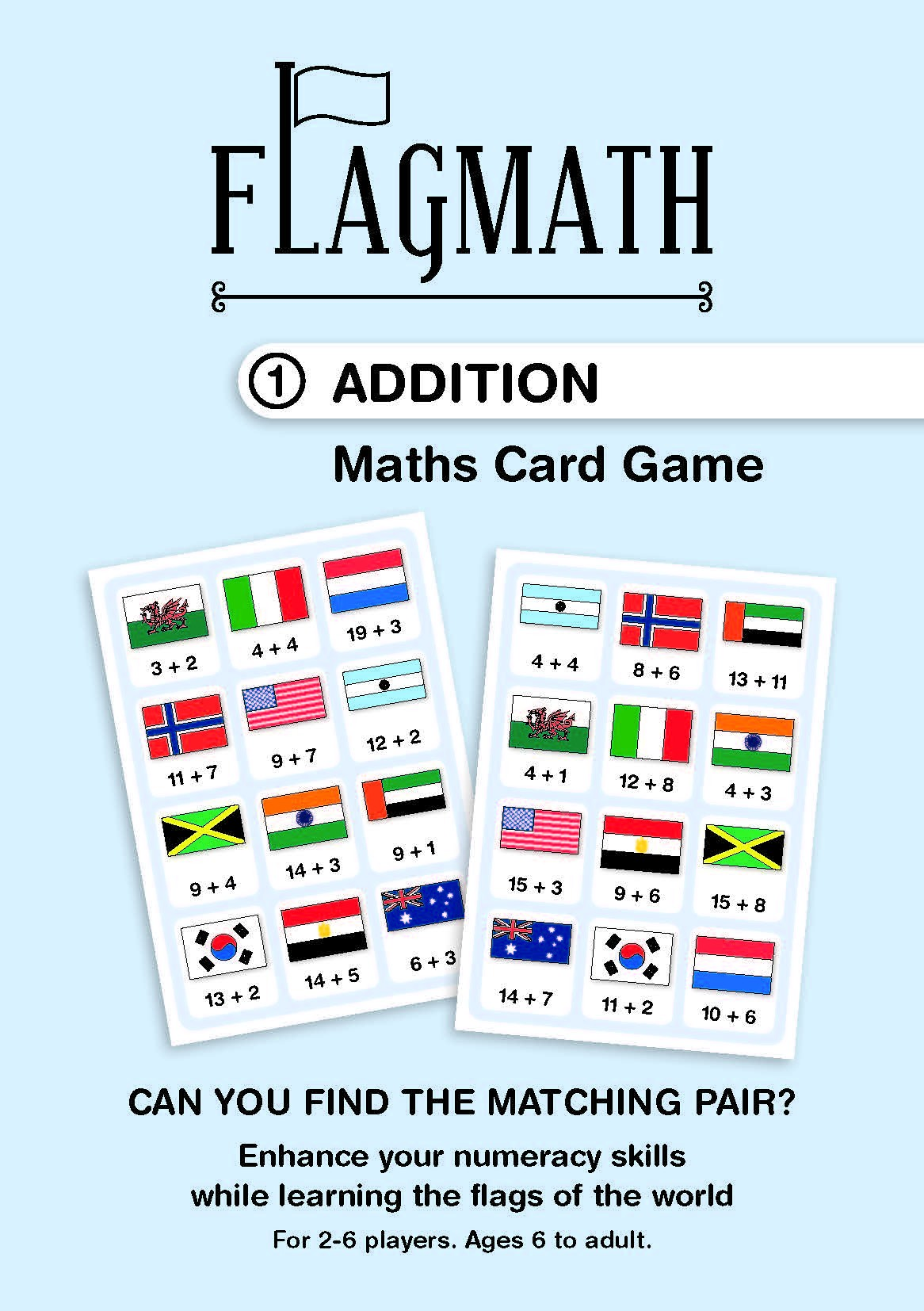 FlagMath - Addition: Mathematics Card Game