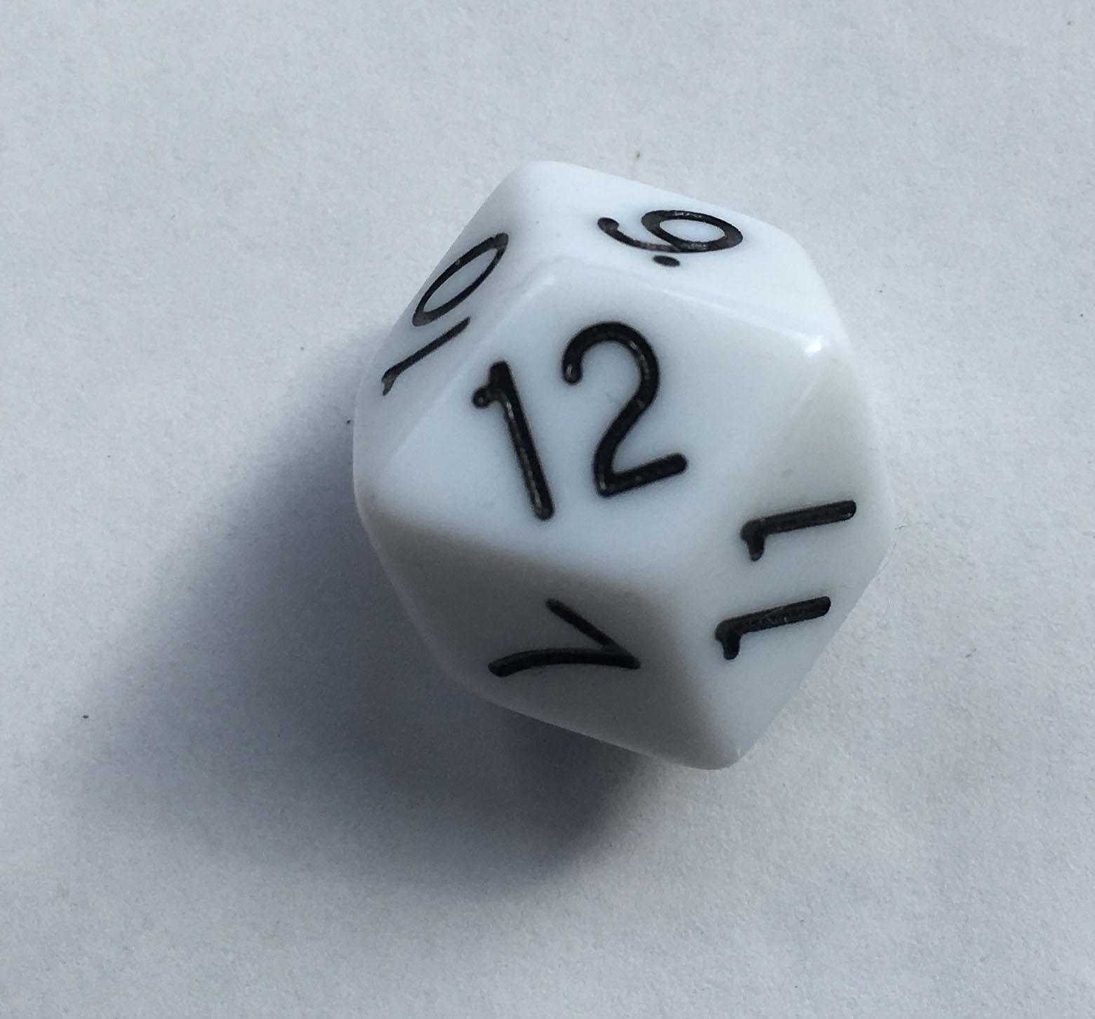 Truncated Rhombic Twelve Sided Die - D12