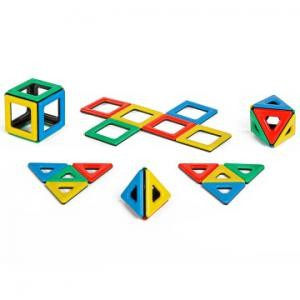 Magnetic Polydron - fun way to learn about 3-dimensional shapes