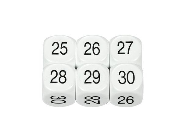 Dice D6: 25-30 16mm (Pack of 5)