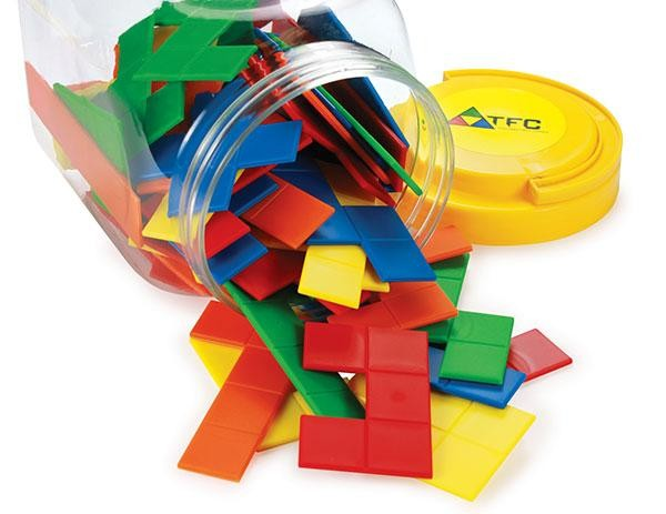 Pentominoes - Jar of 60 pieces in 5 Colours