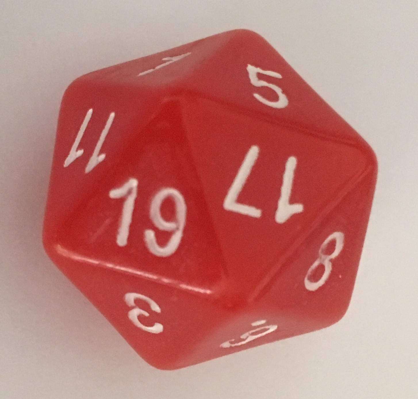 Magic-Numbered Icosahedral Dice (Single Truly Fair D20)