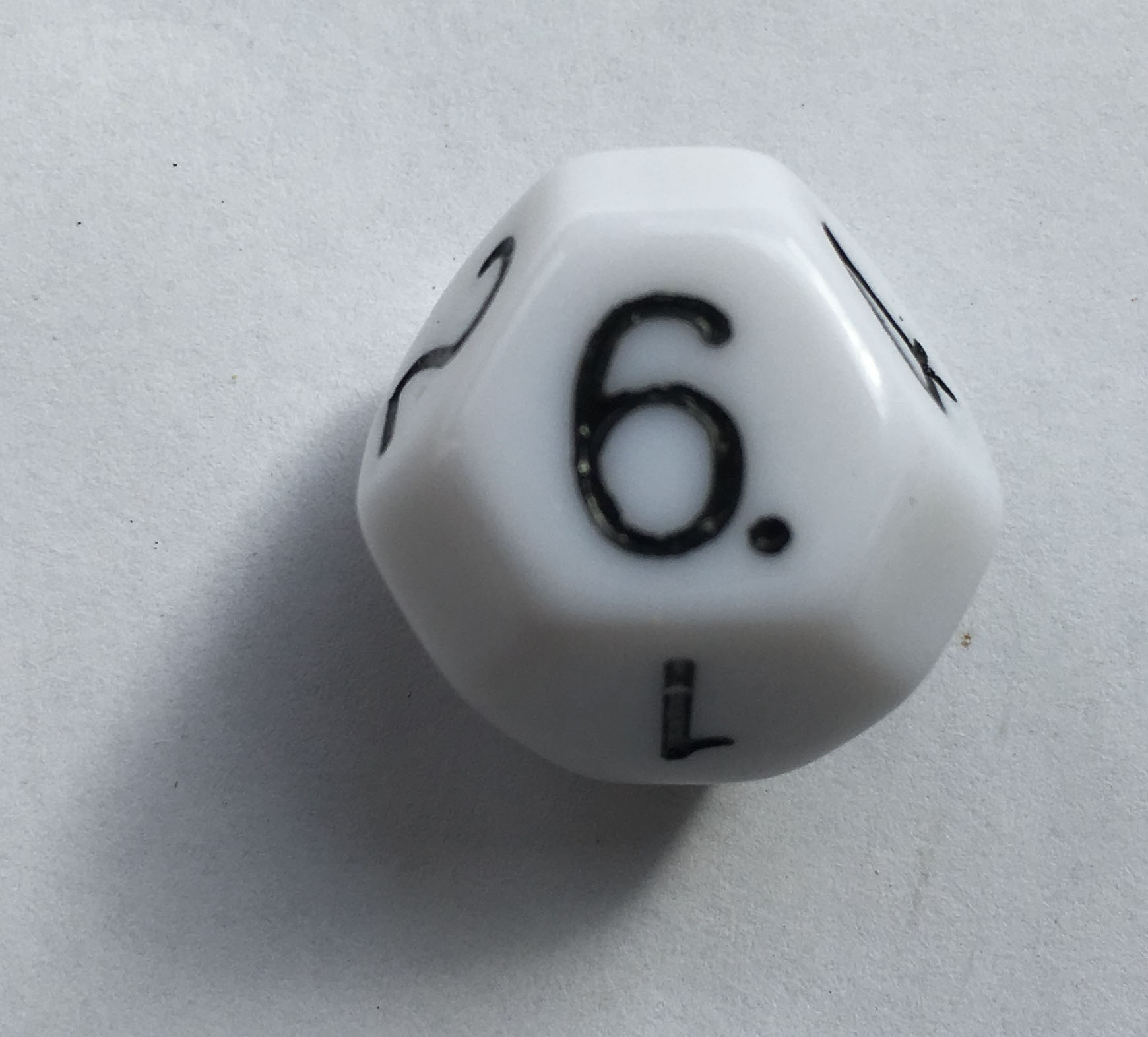 Truncated Octahedral 8 Sided Die (Single D8 Die)