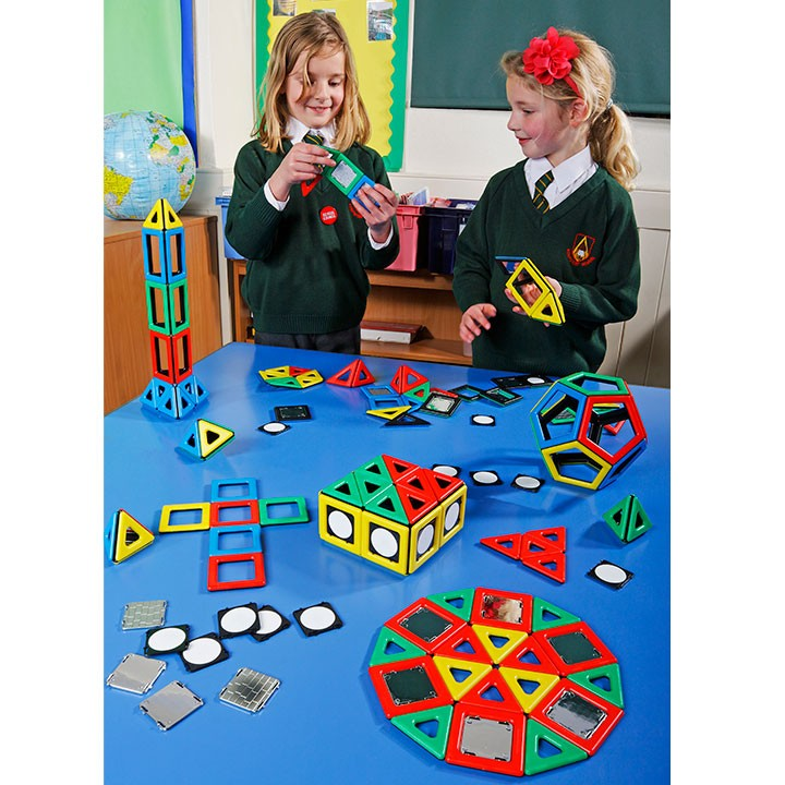 Magnetic Polydron Super Class Set (184 pieces)