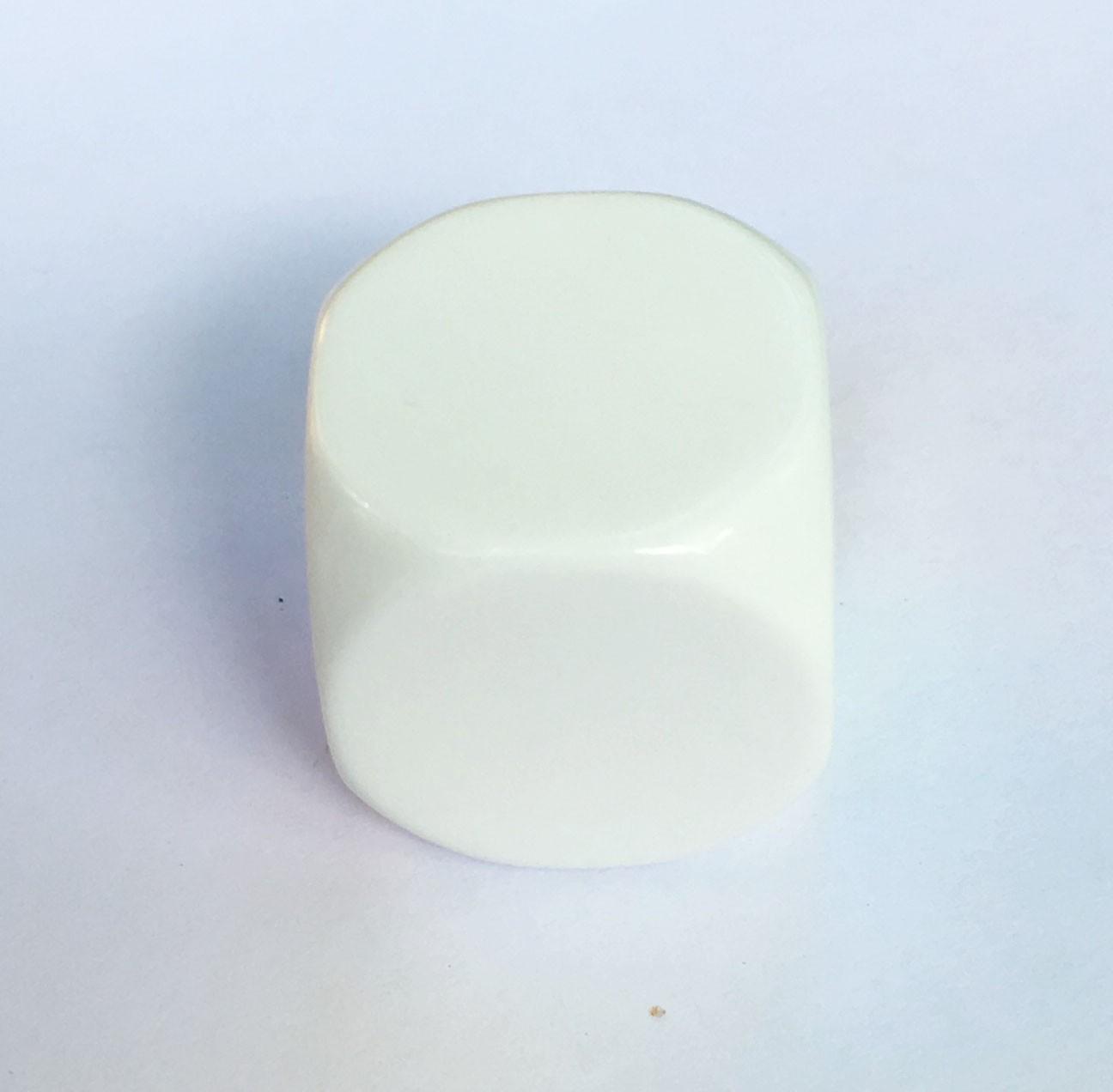 22mm Blank White Single