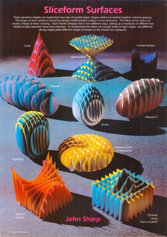 Sliceform Surfaces Poster