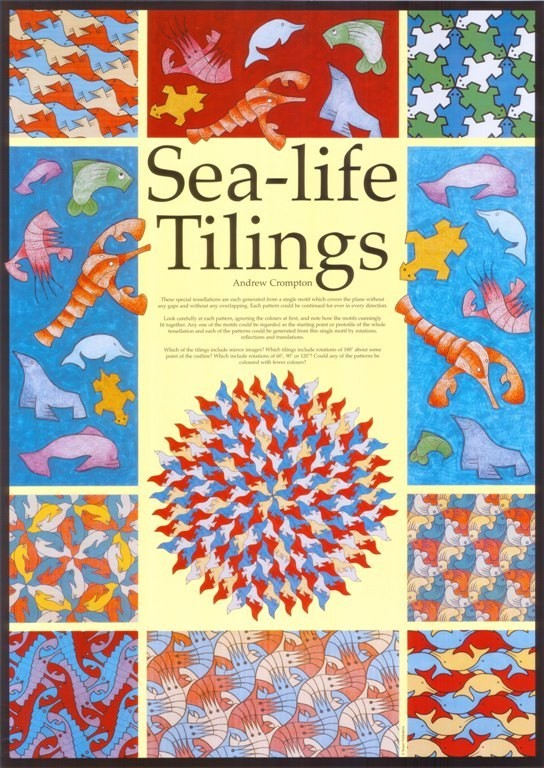 Sea Life Tilings Poster