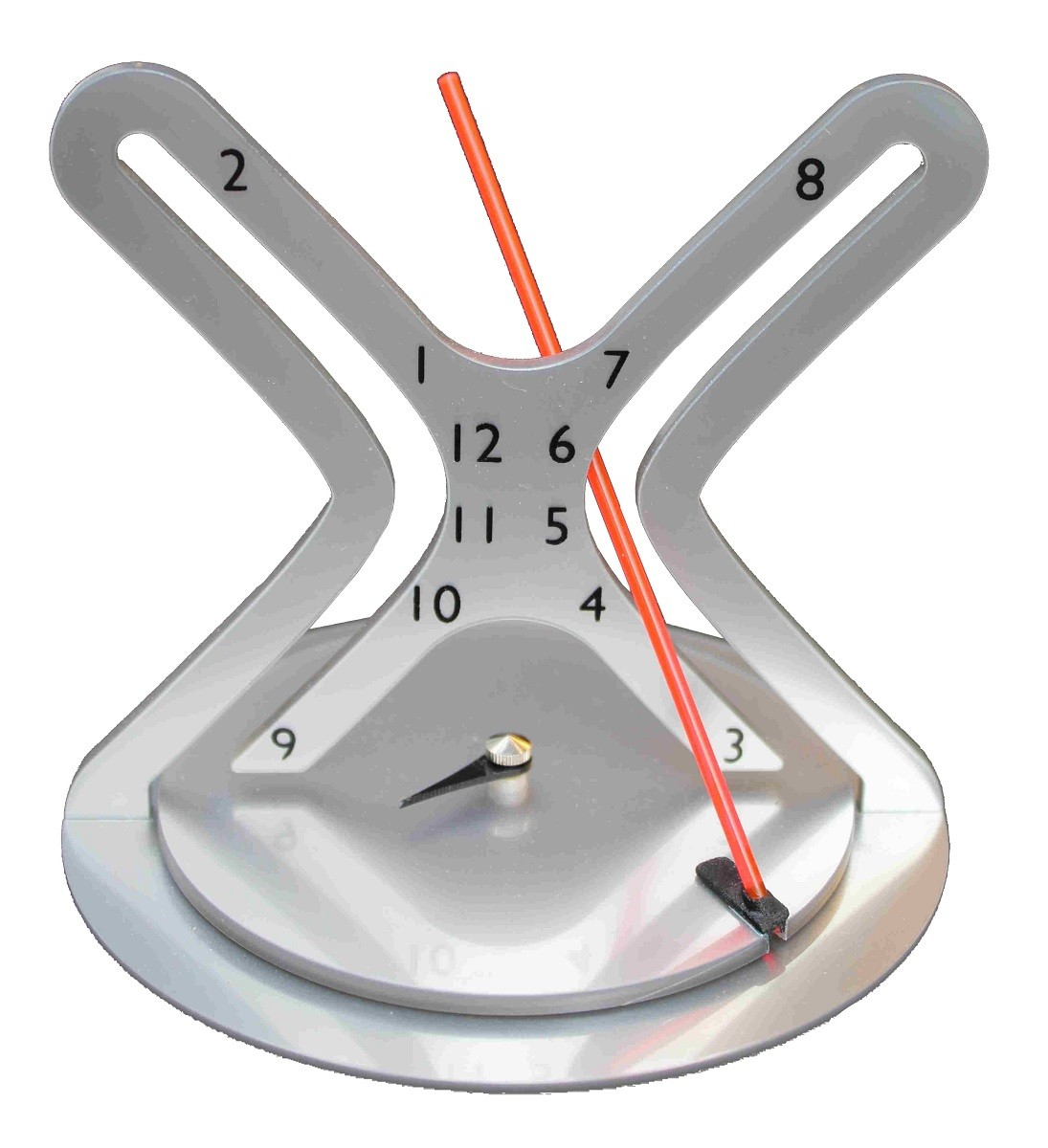 Red Arm Hyperbola Clock