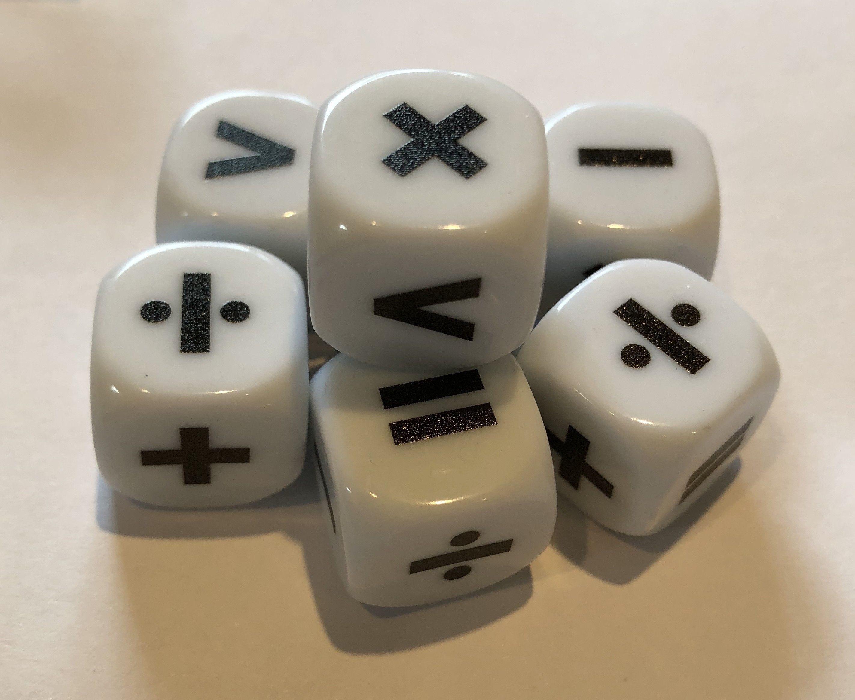 Equations and Operations Dice