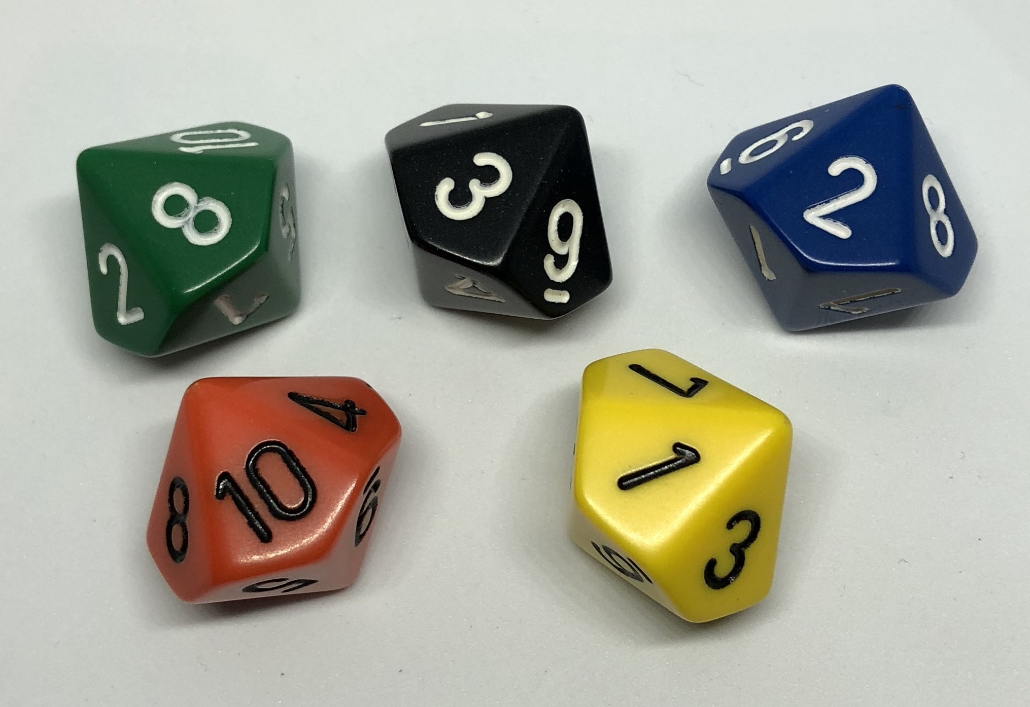 10 sided dice numbered 1 10 tarquin group