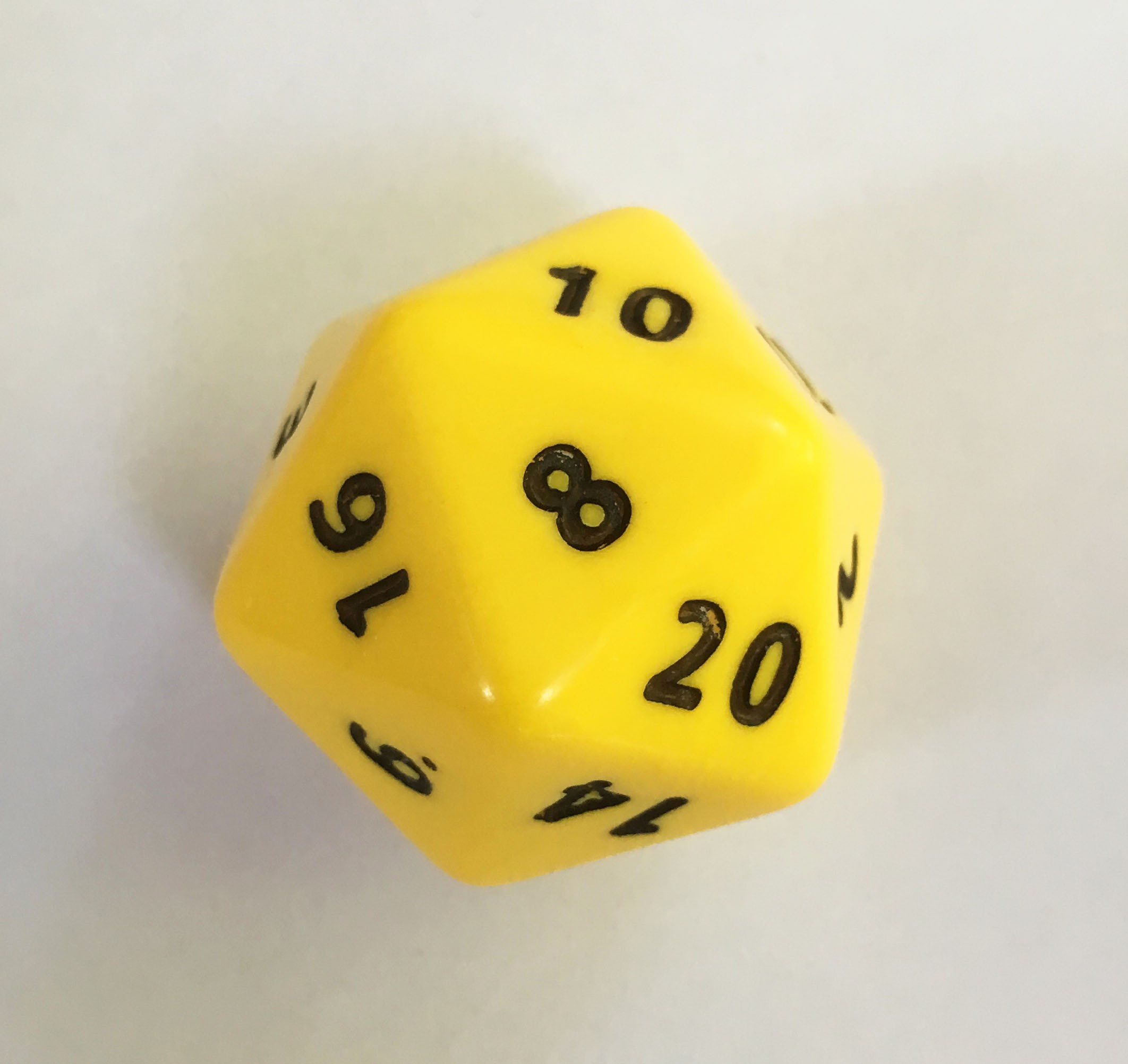 Jumbo D20 Single 20 sided dice Numbered 1-20