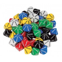D10 Dice 10 Face 000000-900000 (Pack of 50)