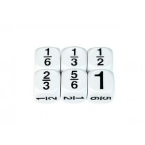 Fractions Dice - 6ths 16mm (Pack of 5)