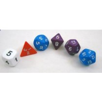 Mixed Polyhedra Dice (Set of 6 Gaming Dice)