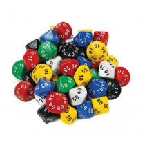 Dice 10 Face 00-90 (Pack of 50)