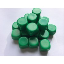 16mm blank green dice