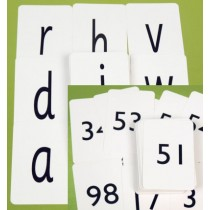 Alphabet Cards (Pack of 100) and Number Cards (0-100)