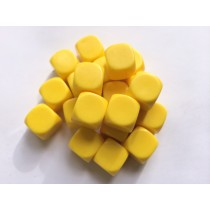 Blank Dice pack of 20 Re-writeable Yellow