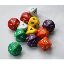 10 sided dice (Pack of 12)
