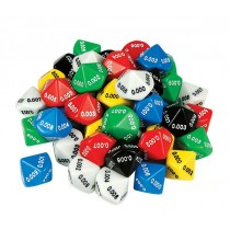 Decimal Dice - Thousandths - 10 Face 0.001 (pack of 10)