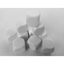 16mm blank white dice - pack of 24