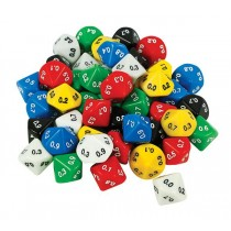 Decimal Dice - 10 Face 0.1 (pack of 50)